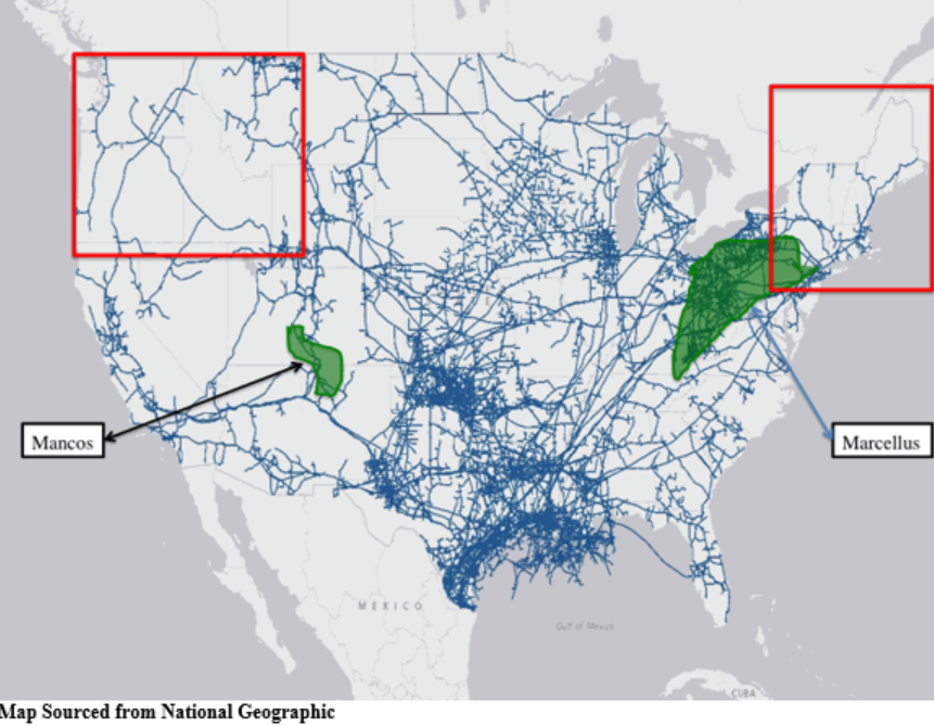 US Natural Gas Pipelines An Infrastructure Crisis AAF - Pipelines in us map
